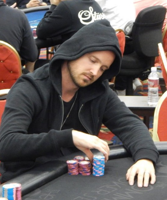 Aaron Paul playing poker